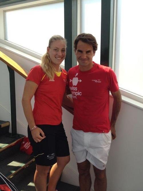 LONDRES JO 2012 : photos et vidéos - Page 3 Federer-Kerber