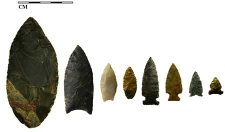 13,500-Year-Old Tool-Making Site Uncovered in Idaho Forest Kelly-Forks-stone-points