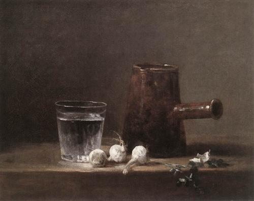 Mes natures mortes préférées 39999-Chardin_Water_Glass_and_Jug