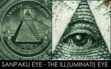 L'œil qui voit tout; tous les symboles des Illuminatis dans les médias Sanpak1