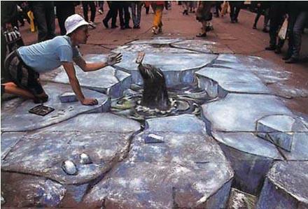 arte 3D sul marciapiede Julianbeever-kurtwenner-anamorfismo-annalisacameli-img3