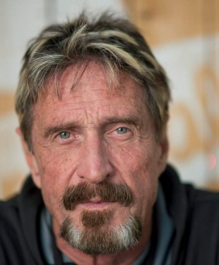 UPDATE - John McAfee missing & the 31 terabyte deadman's switch - John McAfee released after being detained in the Dominican Republic John-mcafee-310x375
