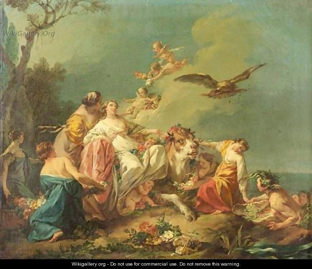 amours - La tenture des Amours des dieux au MBA d'Angers Painting1