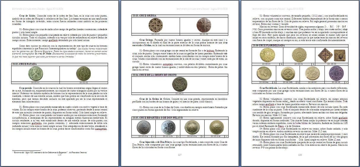 Les boutons civils  (du XVII au XIXeme) Page2