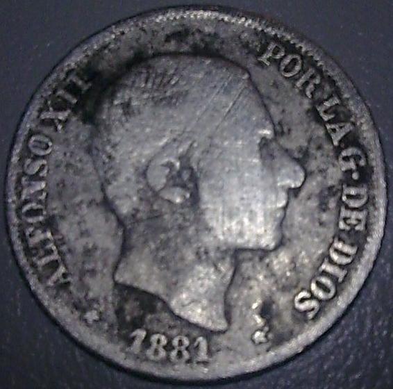 10 Céntimos de Peso de Alfonso XII (Madrid para Filipinas, 1881) 179027288