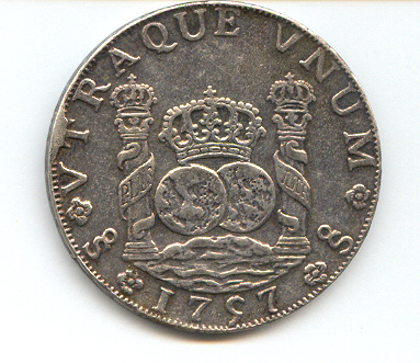 Reproducción sobre 8 Reales de Fernando VI (Santiago, 1757) 295004473
