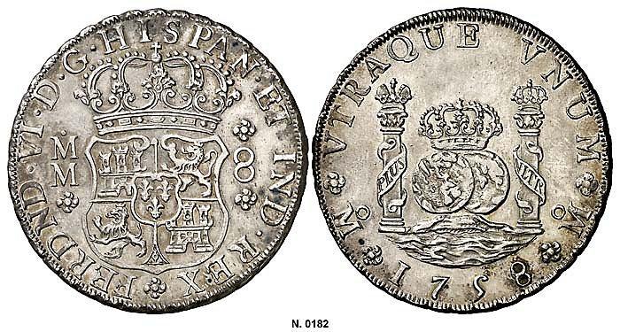 8 Reales 1758 MM Mejico  30202887