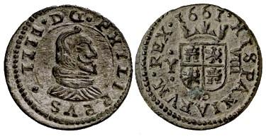 "8 Maravedíes ""busto"" de Felipe IV (Madrid, 1661) 350653763"