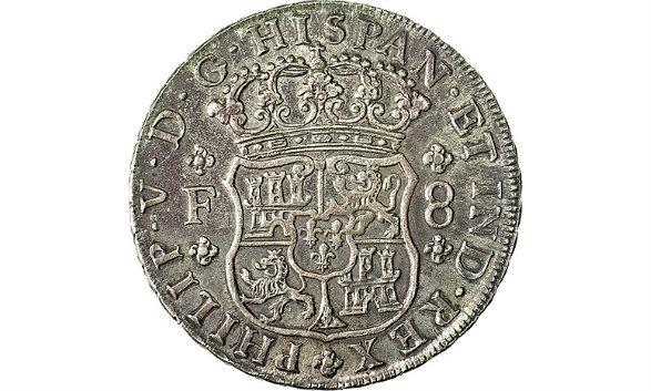 Real de a 8 de Felipe V (México, 1733) Ensayador Francisco de la Peña y Flores 387861631