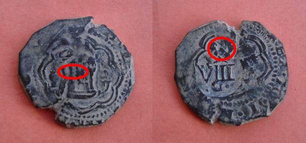 4 Mrs. de Felipe III (Cuenca, 1600-2) con resello VIII/1603 420377233