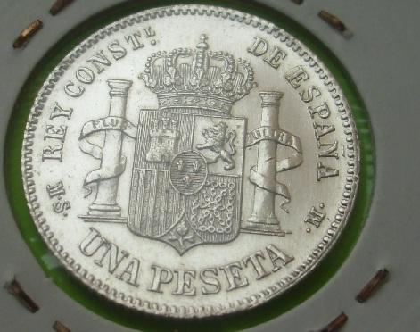 1 Peseta de Alfonso XII (Madrid, 1885 *18-86) [WM nº 9123] 428751599