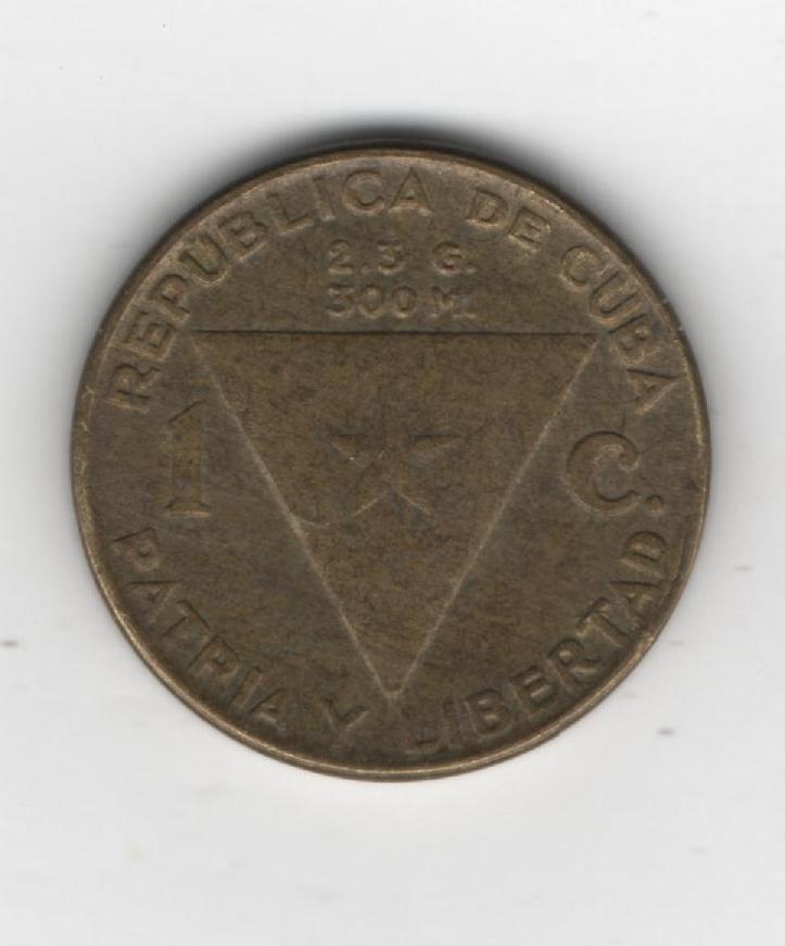 Cuba, 1 centavo, 1953. 521058727
