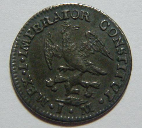 México, 1/2 Real (Iturbide), 1822 [WM n° 7428]. 531939583