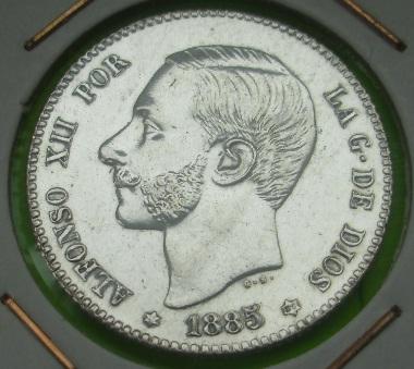 1 Peseta de Alfonso XII (Madrid, 1885 *18-86) [WM nº 9123] 729824165
