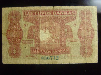 1 Litas de Lituania 16.11.1922 [P-13] 86639247