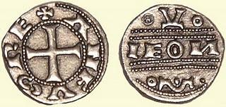 Dinero de Alfonso IX (León, 1190) [Roma nº 126] Leyenda LEONIS 874730164