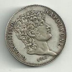 Italia (Dos Sicilias), 5 liras, 1813. 143617009
