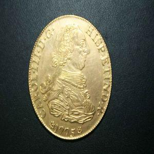 Reproduccion de joyería sobre 8 escudos de Carlos III 173723039