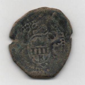 2 Maravedís de Felipe II con resello al IIII/1603 de Burgos 176682305