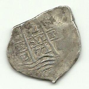 2 Reales macuquinos de Carlos II (Potosí, 1671) ensayador Antonio de Ergueta 185594529