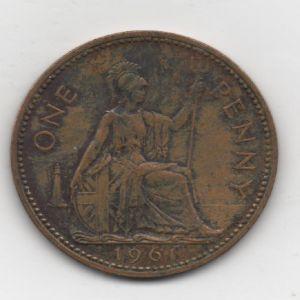 Gran Bretaña - 1 Penny de Elizabeth II (London, 1961) 200500516