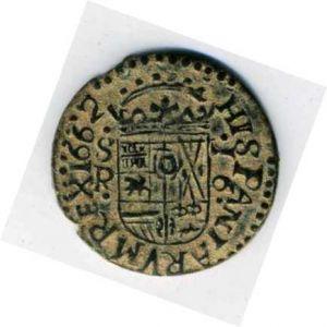 """16 Maravedíes """"busto"""" de Felipe IV (Sevilla, 1664) falsa de época 216367036"""