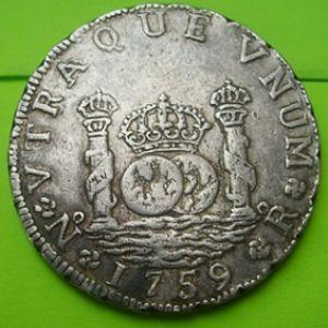 """8 Reales """"columnario"""" de Fernando VI (Santa Fe, 1759) pieza falsa 217956598"""