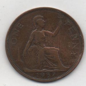 Reino Unido, 1 Penique, año 1937 228744496