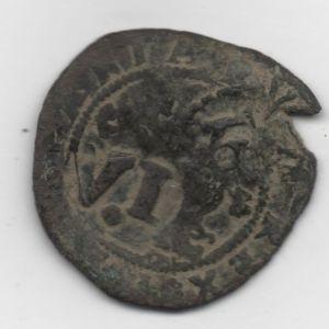 2 Maravedíes de Felipe II (Cuenca, 1577-1582) con resellos IIII/1603 y VI/1636 264576980