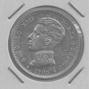 Peseta de Alfonso XII (Madrid, 1905) 279895233