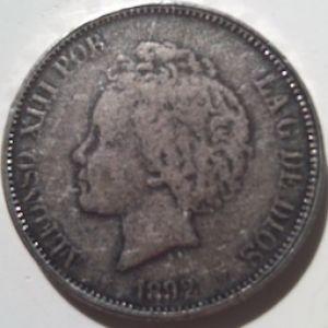 Un lote de monedas falsas, duros, dollares, pesos mexicanos, etc 284354412