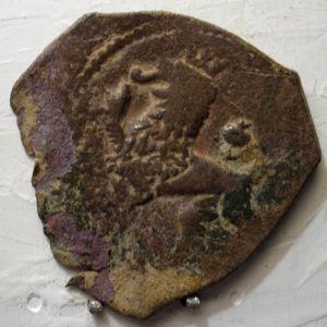 Ochavo (o 2 maravedís) de Felipe II (Cuenca, 1585) ensayador Andrés de Contreras 287844851