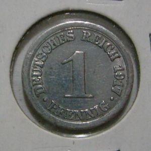 Imperio Alemán, 1 pfenning, 1917. 293260559