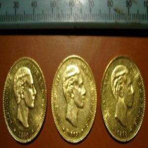 1884 *84 Madrid MSM 25 pesetas Alfonso XII..... 294249908
