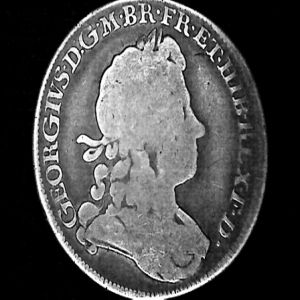 1/2 Corona a nombre de Jorge I de Hanóver, rey de Gran Bretaña e Irlanda, 1720. 303279627