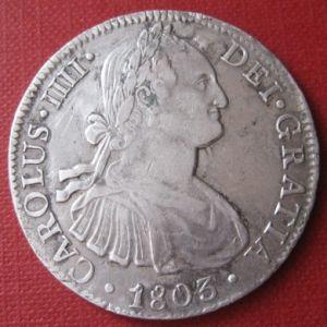 8 Reales de Carlos IV (México, 1803 FT) [WM n° 8477] 303498526