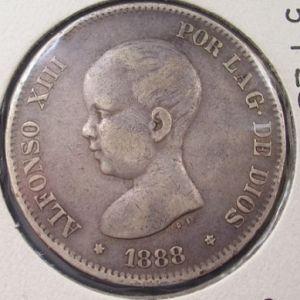 5 Pesetas de Alfonso XIII (Madrid, 1888 MSM) 33066149