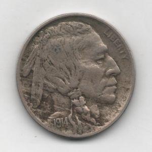 Cinco centavos de Estados Unidos de 1914 352160319