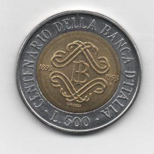 Italia, 500 Liras, año 1993  KM#160. 35629843