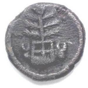 mauryan - 1/4 de vimsati acuñado en Taxila (Norte de la India), periodo Imperio Mauryan (321-187 AC) 35827605