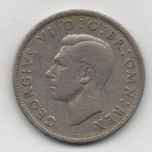 dos chelines (shillings) de Inglaterra de 1949, reinado de Jorge VI 365684845