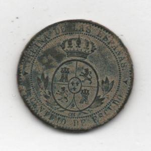 1 Céntimo de Escudo de Isabel II (Segovia, 1868 OM) 366556155