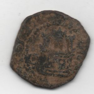 Ochavo (o 2 maravedís) de Felipe II (Cuenca, 1585) ensayador X 375528015