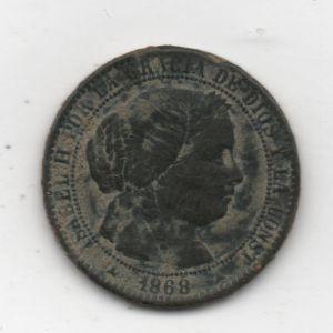 1 Céntimo de Escudo de Isabel II (Segovia, 1868 OM) 415989818
