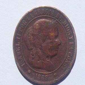 5 Cts. Escudo de Isabel II (Barcelona, 1868) 426901786