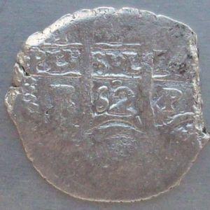 1 Real de Felipe IV (Potosí, 1662) ensayador Antonio Elgueta o Ergueta 437080278