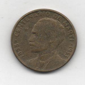 Un centavo de Cuba de 1953, conmemoración de los 100 años del nacimiento de José Martí 442790576