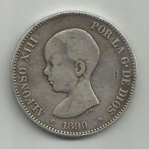 5 Pesetas Alfonso XIII 1890 ¿DEM? 455449765
