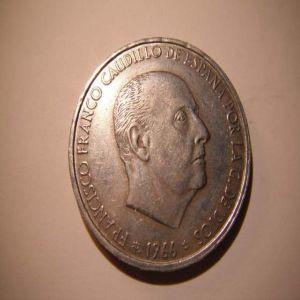 100 PTS 1966 FALSA DE EPOCA EN ¡PLATA! 473472706
