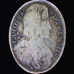 20 Grana a nombre de Carlos II de España. 47709038